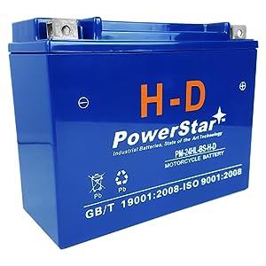 PowerStar HD YTX24HL-BS 12V 24Ah Battery for Motorcycle ATV UTV Watercraft Snowmobile