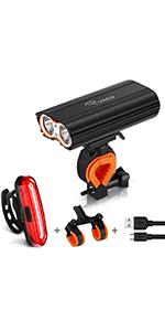 Ryaco Luci per Bicicletta, Luci Bicicletta LED Ricaricabili USB
