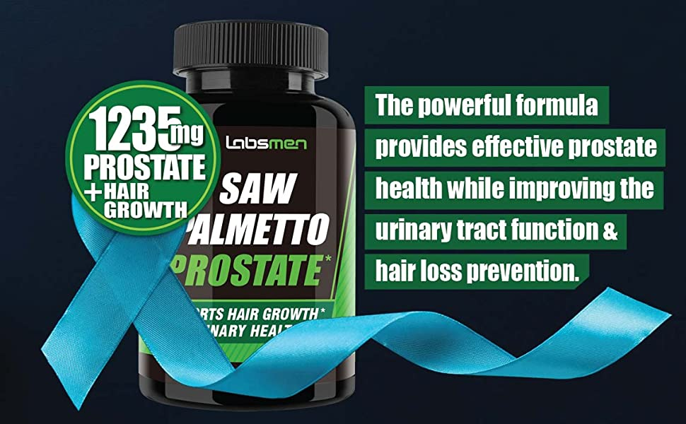 Provides effective prostate health while improving the urinary tract function & hair lost prevention