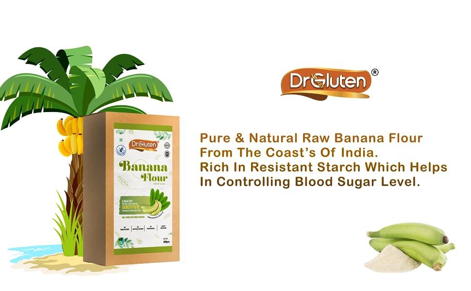 Gluten Free Flour atta powder multigrain raw banana healthy ashirwad organic 24mantra jiwa vegan