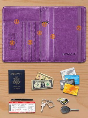 Smoothie Fruit Drink Travel Leather RFID Blocking Case Wallet for Passport with Passport Holder Cover