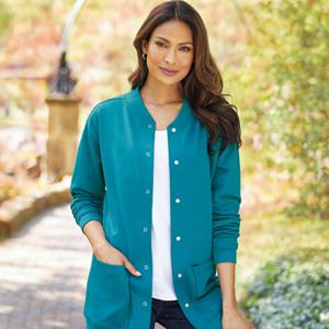 cardigan womens ladies fleece winter fall lightweight button plus size jacket long sleeve soft
