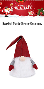 Large Gnome Christmas Tree Topper