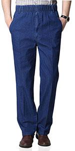 Mens elastic waist pants for seniors