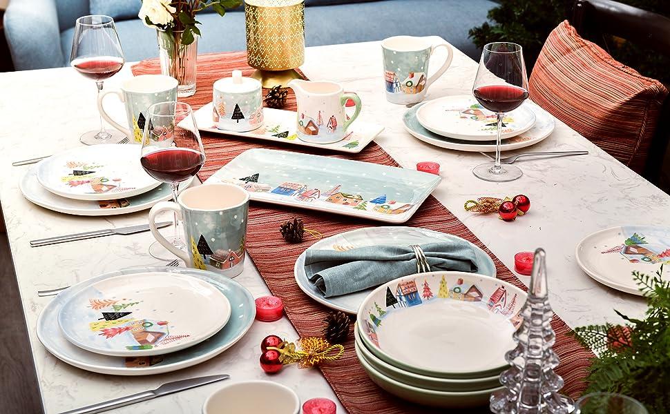 Nordic Village Collection Dinnerware