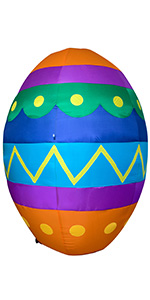 AJY 8 Feet Easter Colorful Eggs Inflatable