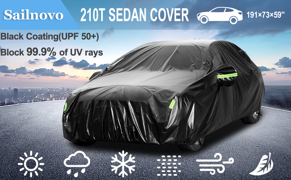 Heavy Duty Car Cover for Peugeot 208 hatchback Breathable Cover UV Protection