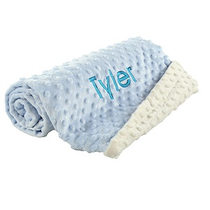 blue customized baby blanket