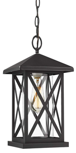 Outdoor pendant light exterior hanging lantern