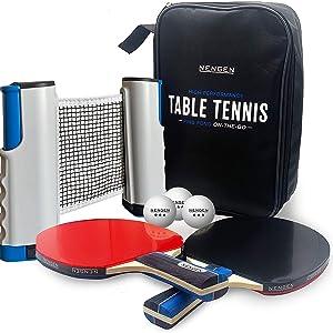 Table Tennis Set paddles balls case