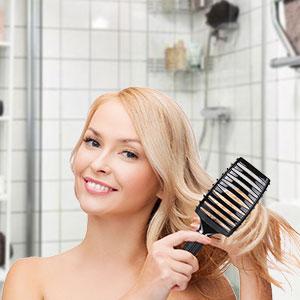 Cepillo Kaiercat de cerdas de jabalí, mejor en desenredar cabello ...