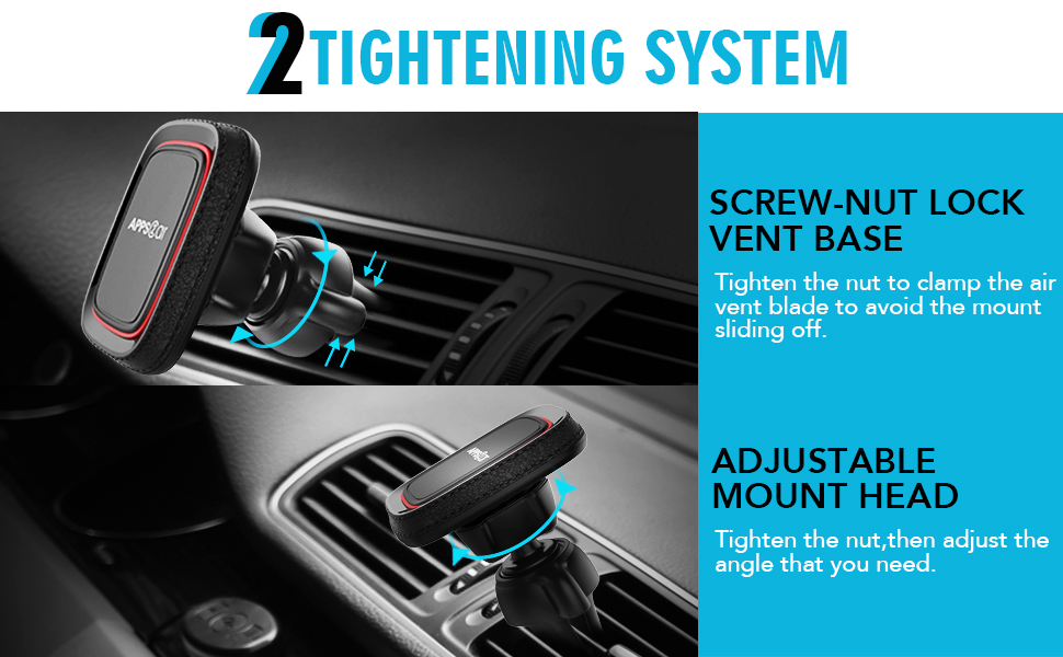 twist-lock car phone mount