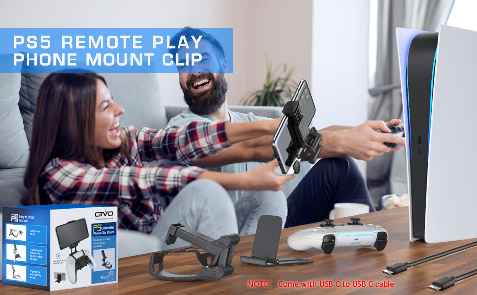 PS5 remote play phone mount clip