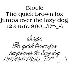 plaque font samples