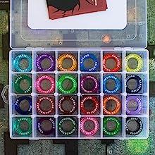 full sett, rings, condition, markers