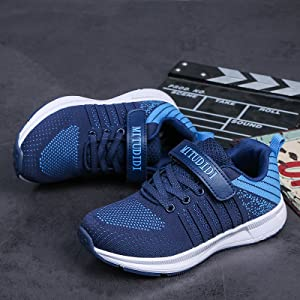 Baskets Enfant Garçon Chaussure Sneaker Sport Course Bleu Running Pourpre Velcro Été Automne