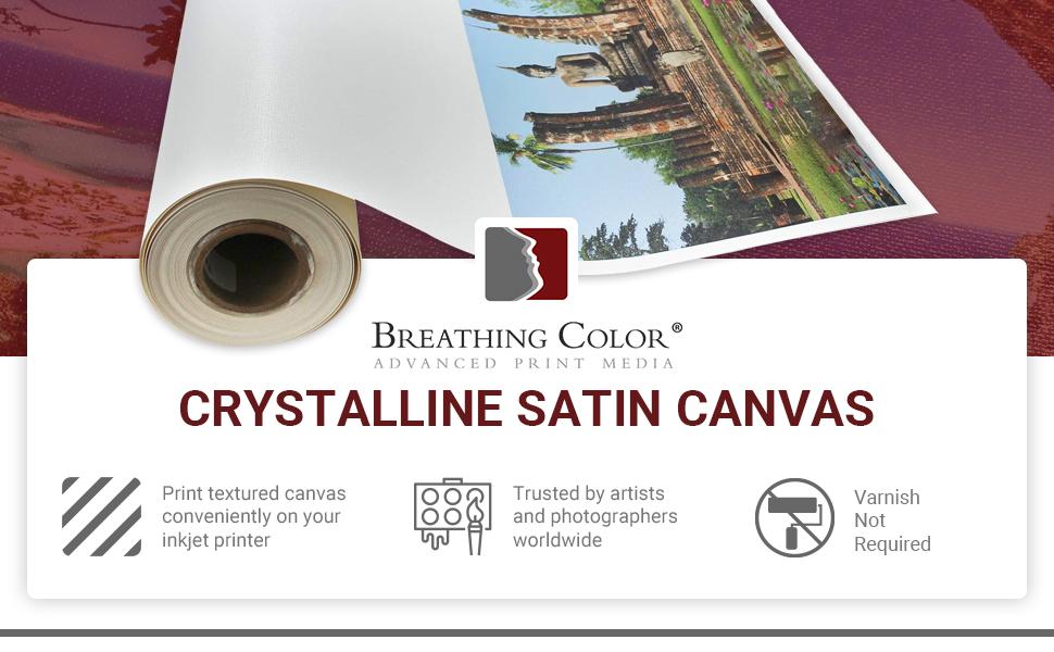 Breathing Color Crystalline Satin Canvas