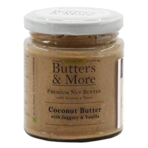 Coconut Butter Unsweetened natural original keto fat mct oil cold pressed vegan blueberry jaggery