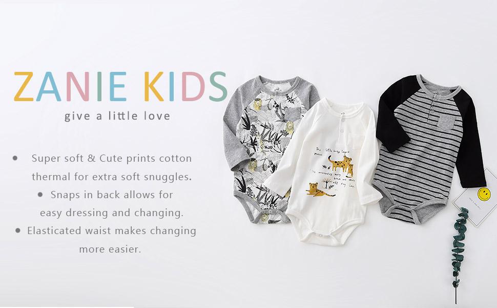 Baby bodysuits 3-pack longsleeves