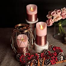 pink candle set