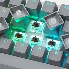 Drop ALT Mechanical Keyboard Massdrop 65% compact Aluminum Cherry MX Halo True Gaming Speed Silver