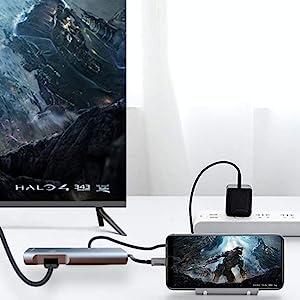 4K HDMI Adapter DeX Station & DeX Pad Alternative Compatible Samsung Galaxy S9/S8/S9+/S8+ Plus Desk