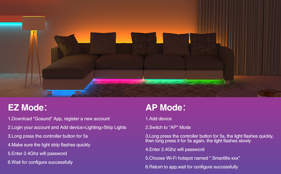 led strip light app control