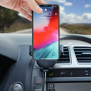 Samsung Air Vent Cell Phone Holder Car Mount Compatible for iPhone Cestson Wireless Car Charger and Other Smartphone
