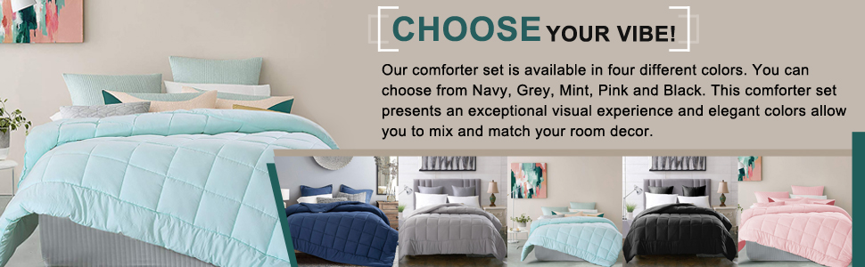 Twin comforter set with super soft material.