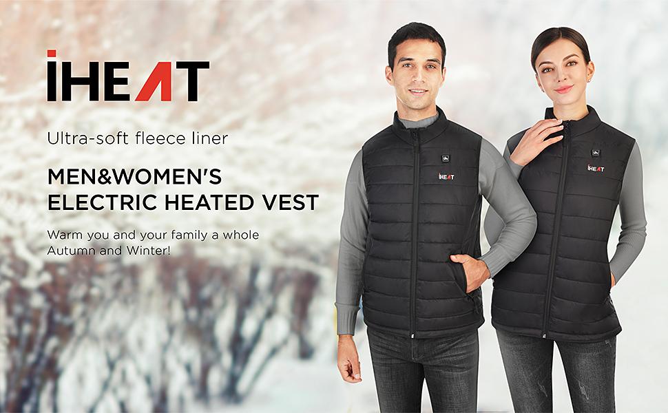 waterproof warm fast heated vest for women and men