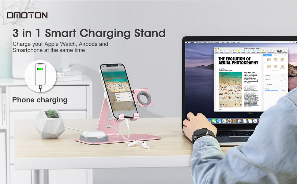iphone charging station,apple watch and phone charging station