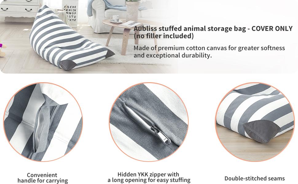 stuffed animal storage grey