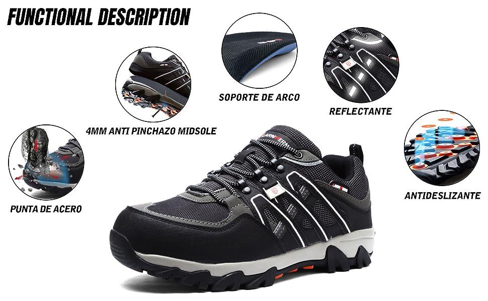 zapatos de seguridad para hombre