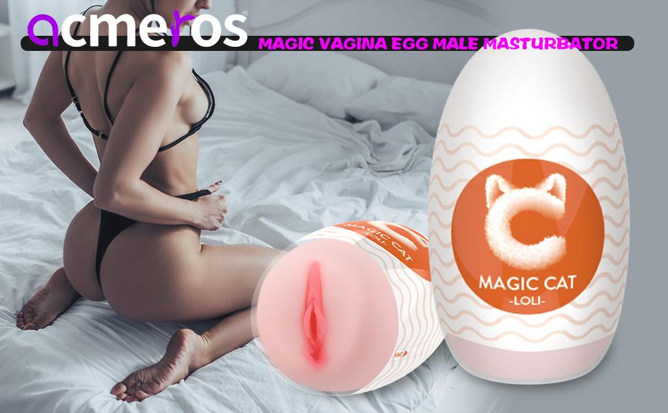 Magic Vagina Egg Male Masturbator Portable Pleasure StrokerRealistic Adult Male Sex Toys for Men