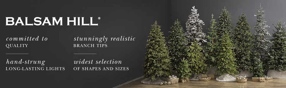 Balsam Hill realistic artificial Christmas trees high quality wide selection