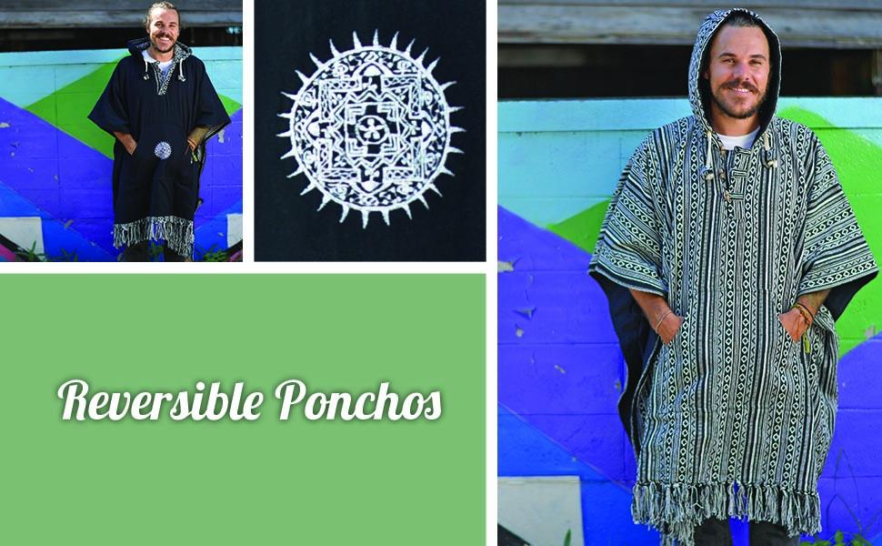 Mexican poncho Arriba virblatt