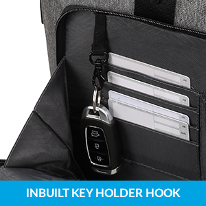 In built key holder hook