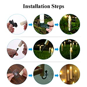 PChero Multifunctional Battery Powered LED Window Candles for Holiday Halloween Christmas Decoration
