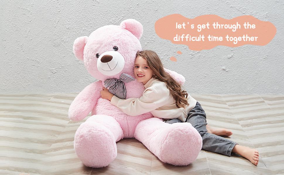 giant pink teddy bear