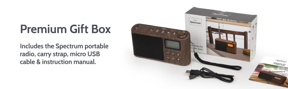 i-box Spectrum DAB Portable Radio Box Contents