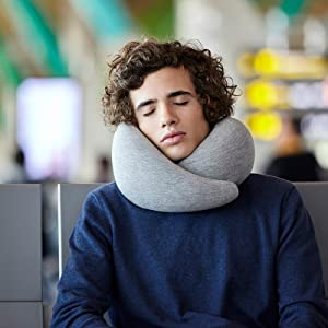 Travel Pillow with Memory Foam for Airplanes, Car, Neck Support for Flying, Power Nap Pillow, Travel