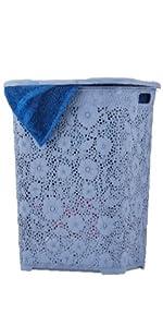 wicker laundry basket brown