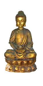 Sunnydaze Buddha Outdoor Water Fountain with LED Light