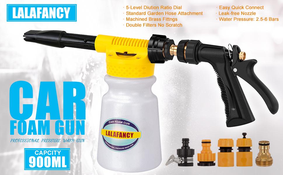 Car Foam Gun >> Car Wash Foam Gun Sprayer Adjustable Water Pressure And Soap Ratio Dial Car Wash Blaster Attaches To Garden Hose Car Foam Gun
