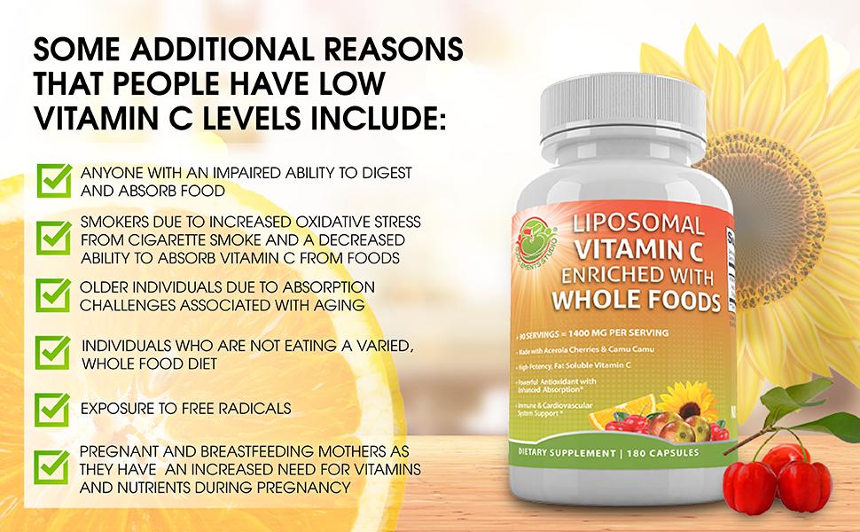 vitamin C levels inlude