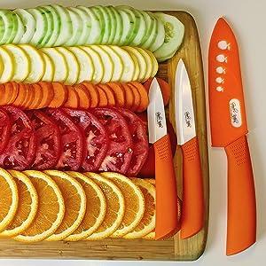 Orange Ceramic Knives