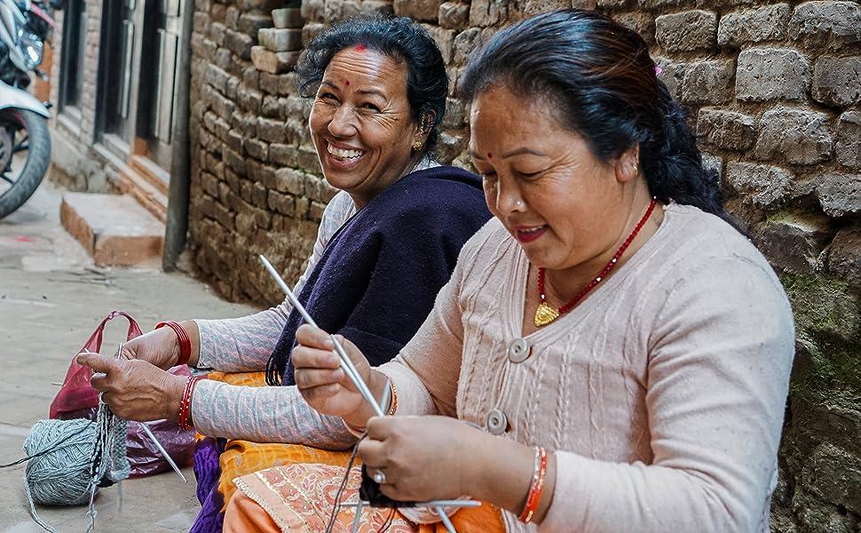 Hand knit in the Himalayas Tibetan Socks