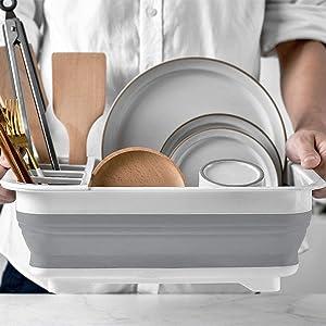 Égouttoir à vaisselle pliable et pliable