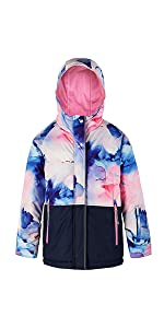 Waterproof Ski Jacket for Boys and Girls Toddler Youth Therm Kids Winter Coat Fleece Lined Insulated