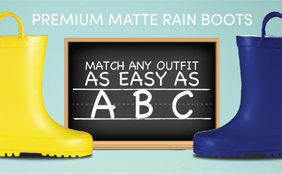 Matching Kids Rain Boots